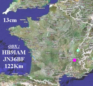 Carte des Contacts IARU UHF 2015 - 13cm