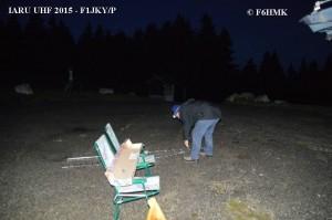 F1JKY-P JN25TE IARU UHF - F1JKY au montage des Ant - by F6HMK