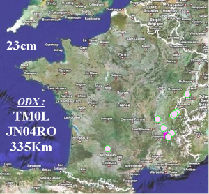 Carte des Contacts IARU UHF 2015 - 23cm